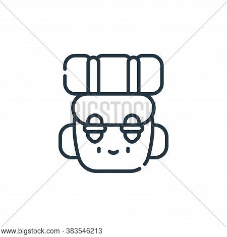 backpack icon isolated on white background from adventure collection. backpack icon trendy and moder