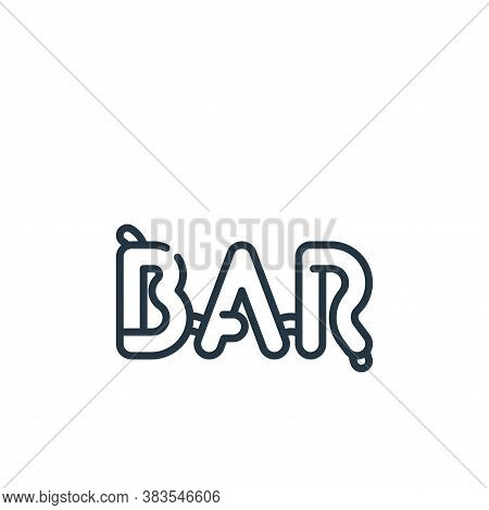 bar icon isolated on white background from party and celebration collection. bar icon trendy and mod