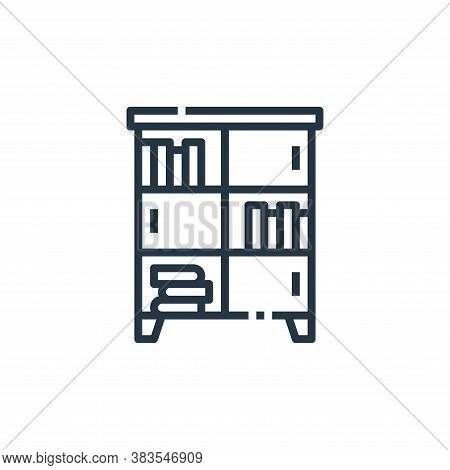 cabinet icon isolated on white background from furniture collection. cabinet icon trendy and modern