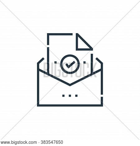 mail icon isolated on white background from voting elections collection. mail icon trendy and modern