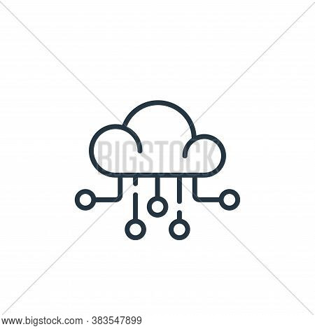 cloud icon isolated on white background from office collection. cloud icon trendy and modern cloud s