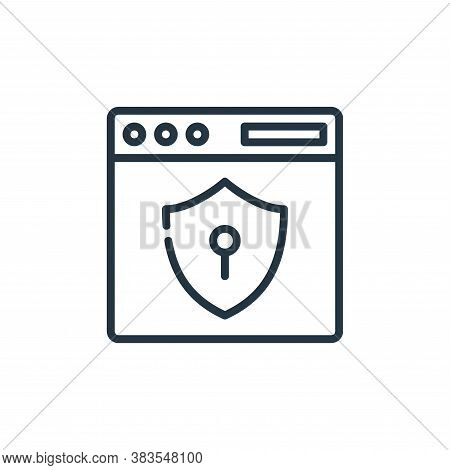 security icon isolated on white background from seo and marketing collection. security icon trendy a