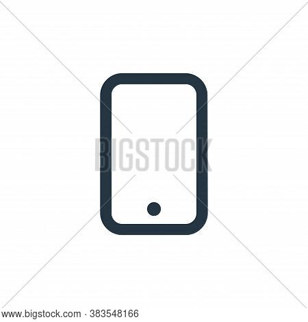 smartphone icon isolated on white background from interface collection. smartphone icon trendy and m
