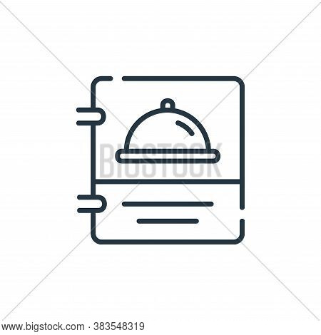 menu icon isolated on white background from restaurant collection. menu icon trendy and modern menu