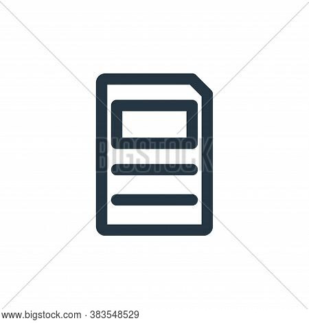 paper icon isolated on white background from school collection. paper icon trendy and modern paper s