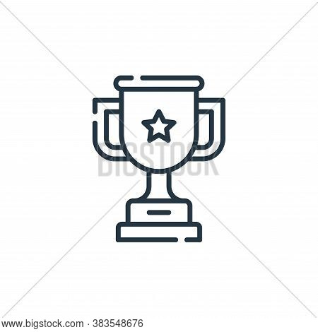 trophy icon isolated on white background from office collection. trophy icon trendy and modern troph