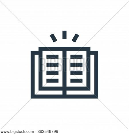 book icon isolated on white background from fairytale collection. book icon trendy and modern book s