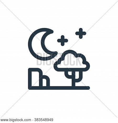 night icon isolated on white background from animal and nature collection. night icon trendy and mod