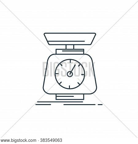 scale icon isolated on white background from analytic investment and balanced scorecard collection.
