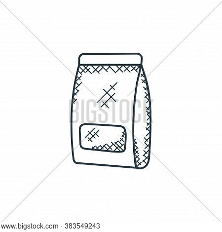milk box icon isolated on white background from food hand drawn collection. milk box icon trendy and