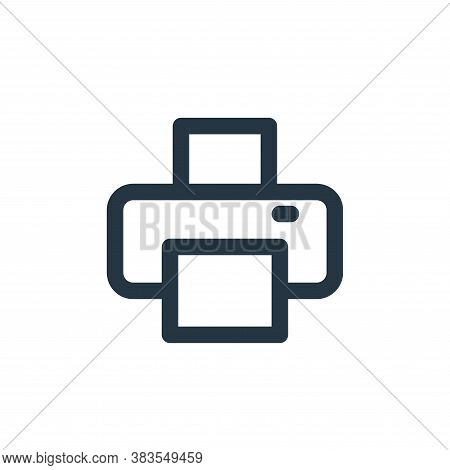 printer icon isolated on white background from interface collection. printer icon trendy and modern