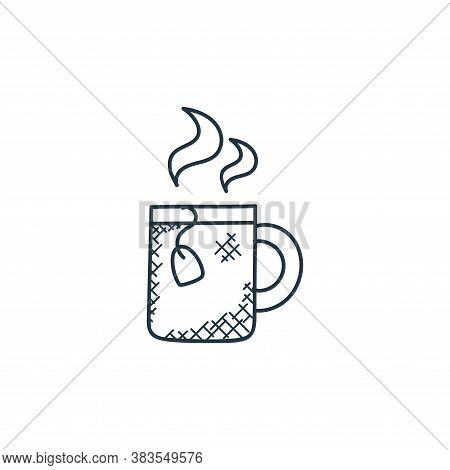 hot tea icon isolated on white background from food hand drawn collection. hot tea icon trendy and m
