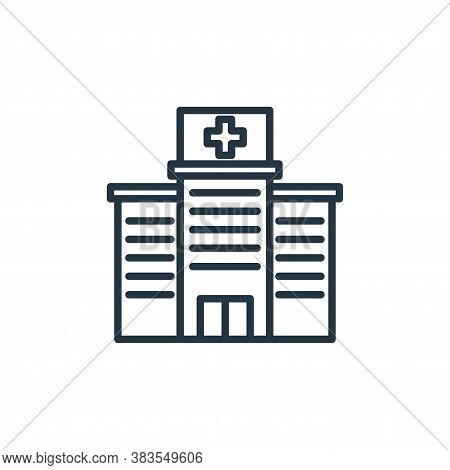 hospital icon isolated on white background from building collection. hospital icon trendy and modern