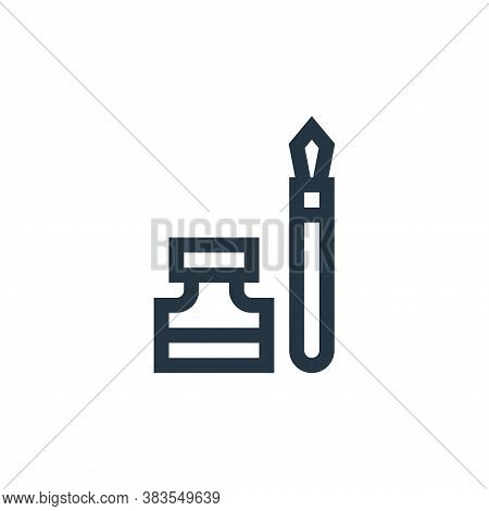 ink icon isolated on white background from handcrafts collection. ink icon trendy and modern ink sym