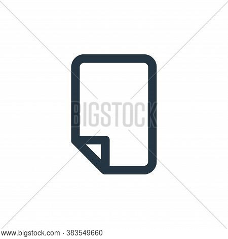 paper icon isolated on white background from email ui collection. paper icon trendy and modern paper