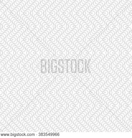 Seamless Zig Zag Wavy Lines Pattern And Texture. White Textured Background. Vector Art.