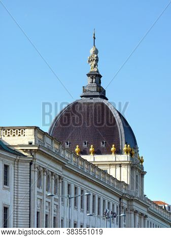 Hotel Dieu In Lyon, Close-up, France, Europe