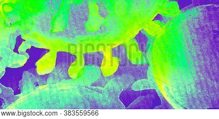 Hpv Infection. Rainbow Immunity Cancer. Bright Virus Images. Medicine Cells. Fluorescent Virus Resea