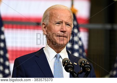 Washington Dc,united States,march 2020,democratic Party Presidential Candidate Joe Biden In Election