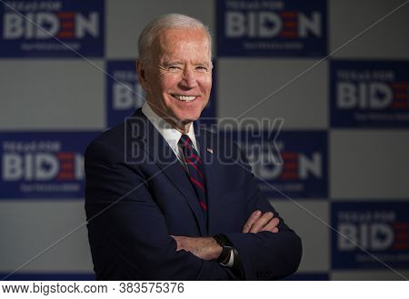 New York,united States,june 2020,democratic Party Presidential Candidate Joe Biden In Election Campa