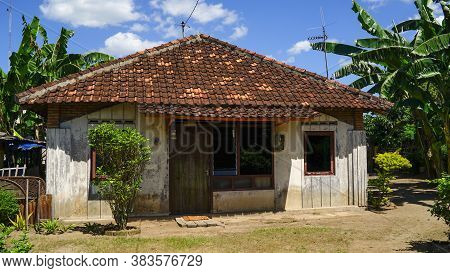 Yogyakarta, Indonesia - July 30, 2016: Old Cottage In The Village, Countryside Living In Indonesia,