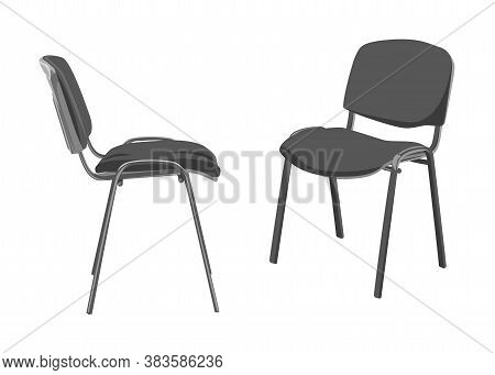 Two Typical Office Chairs. Vector Color Image.