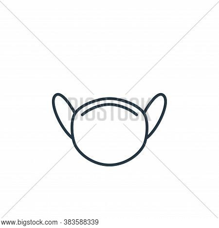 hygiene mask icon isolated on white background from air pollution collection. hygiene mask icon tren