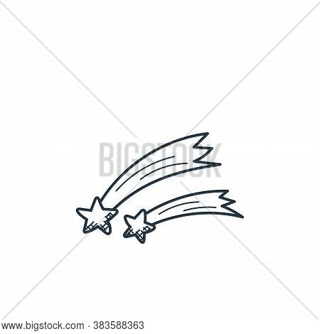 shooting star icon isolated on white background from space and aircraft collection. shooting star ic