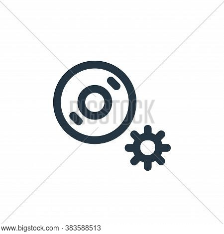 setting icon isolated on white background from disc tool line collection. setting icon trendy and mo
