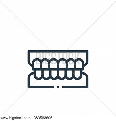 teeth icon isolated on white background from dentist collection. teeth icon trendy and modern teeth