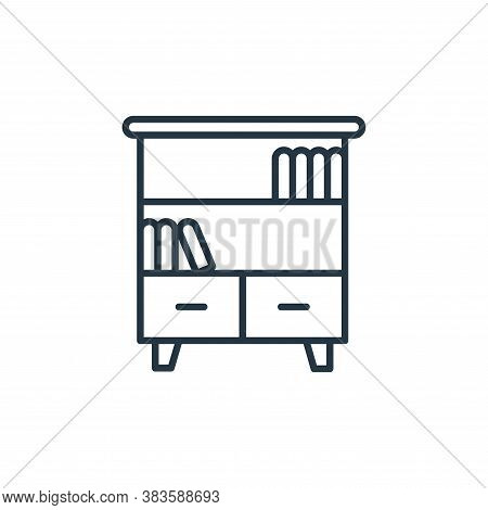 bookshelf icon isolated on white background from furniture collection. bookshelf icon trendy and mod