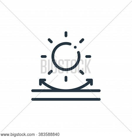 uv icon isolated on white background from fabric features collection. uv icon trendy and modern uv s