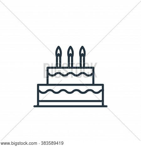 birthday cake icon isolated on white background from bakery collection. birthday cake icon trendy an