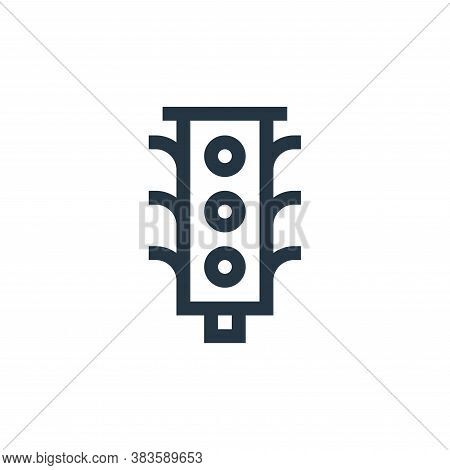traffic lights icon isolated on white background from taxi service collection. traffic lights icon t