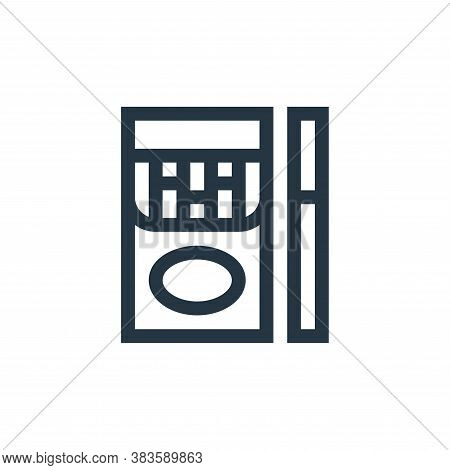 cigarettes icon isolated on white background from music festival collection. cigarettes icon trendy