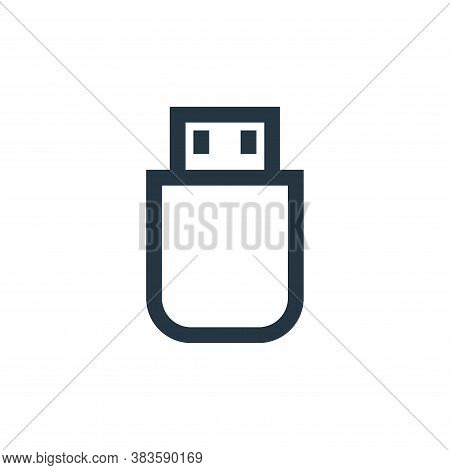 flash disk icon isolated on white background from electronic collection. flash disk icon trendy and