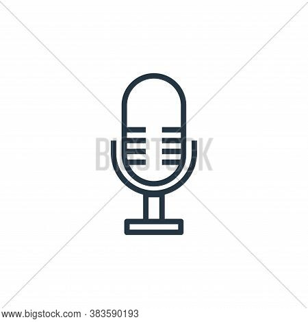 microphone icon isolated on white background from computer collection. microphone icon trendy and mo