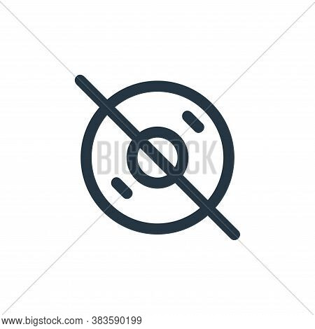 disabled icon isolated on white background from disc tool line collection. disabled icon trendy and