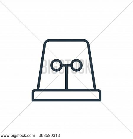 Siren icon isolated on white background from crime collection. Siren icon trendy and modern Siren sy