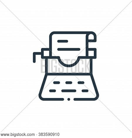 typewriter icon isolated on white background from books collection. typewriter icon trendy and moder
