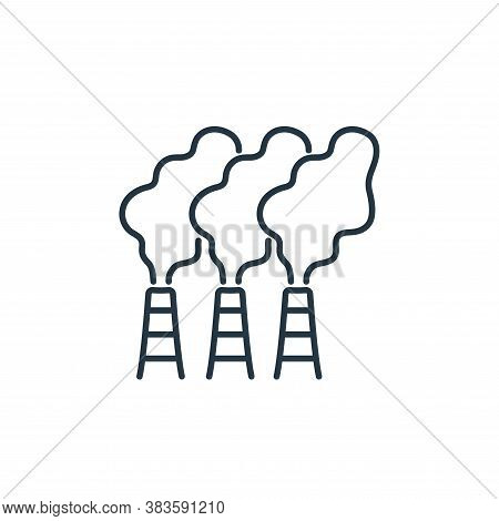 factory icon isolated on white background from air pollution collection. factory icon trendy and mod