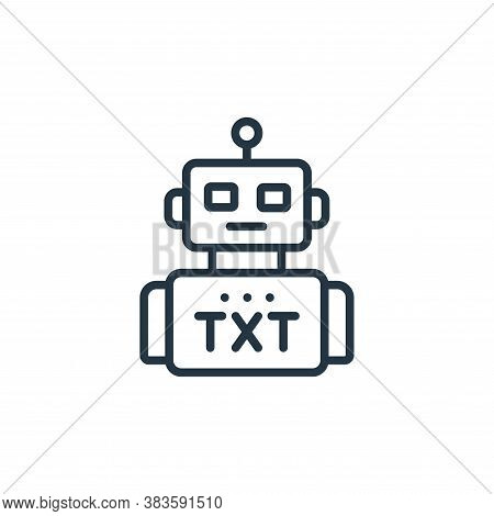 robot icon isolated on white background from seo and website collection. robot icon trendy and moder