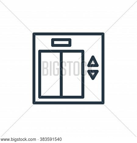 elevator icon isolated on white background from travel collection. elevator icon trendy and modern e