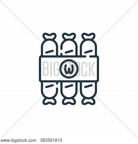 sausages icon isolated on white background from fast food collection. sausages icon trendy and moder