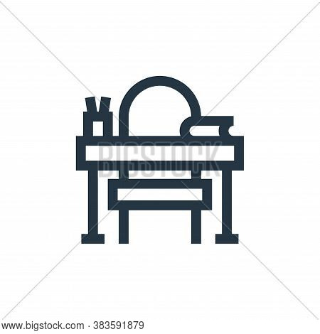 teacher desk icon isolated on white background from education collection. teacher desk icon trendy a