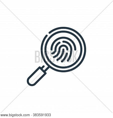 fingerprint icon isolated on white background from law and justice collection. fingerprint icon tren