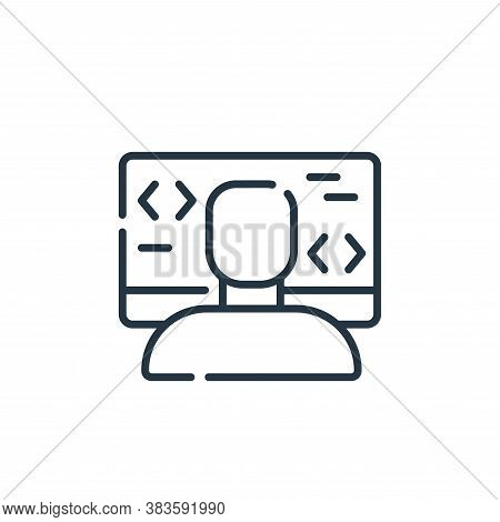 programmer icon isolated on white background from programming collection. programmer icon trendy and