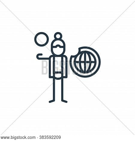 depletion icon isolated on white background from climate change collection. depletion icon trendy an