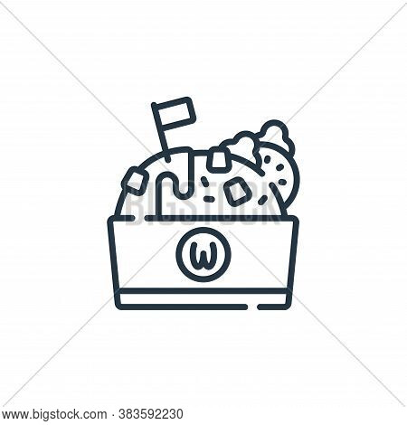 rice bowl icon isolated on white background from fast food collection. rice bowl icon trendy and mod
