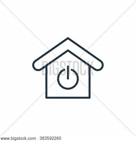power on icon isolated on white background from smarthome collection. power on icon trendy and moder